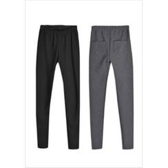 GOROKE - Pocket-Back Coral-Fleece Lined Leggings