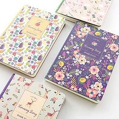 Cute Essentials - Floral Print Notebook (S)