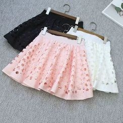 Oh My Love - Cutout A-Line Skirt