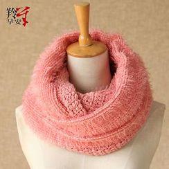 RGLT Scarves - Furry Knit Circle Scarf