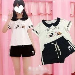 GOGO Girl - Short-Sleeve Printed T-Shirt / Shorts