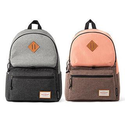 Mr.ace Homme - Contrast-Color Canvas Backpack