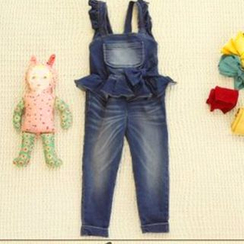 Lullaby - Kids Ruffle Denim Dungaree