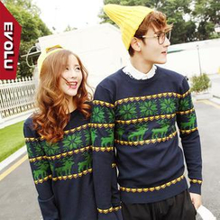 Evolu Fashion - Nordic Print Couple Sweater