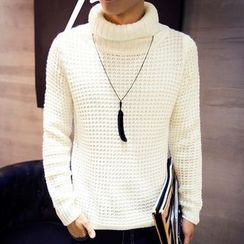 maxhomme - Turtleneck Knit Top