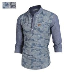 DANGOON - Half-Placket Camouflage-Panel Shirt