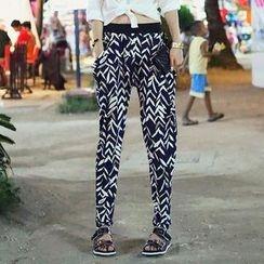 REDOPIN - Elastic-Waist Tapered Pants