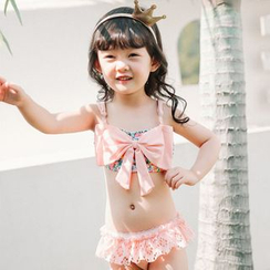 Goldlyre - Kids Set: Bow Swim Top + Swim Bottom