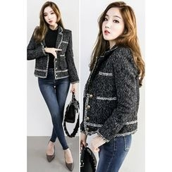INSTYLEFIT - Metallic-Button Tweed Jacket