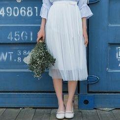 Sens Collection - Pleated Midi Skirt