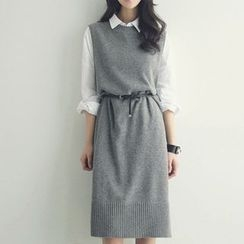 Saranghae - Midi Knit Tank Dress