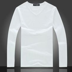 JIBOVILLE - Long-Sleeve V-Neck T-Shirt