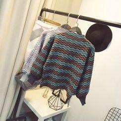 Polaris - Chevron Mock Neck Sweater