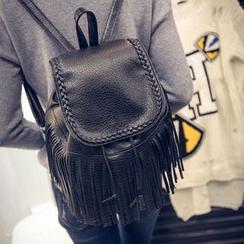 Seok - Tassel Drawstring Backpack