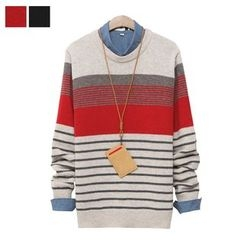 DANGOON - Multi-Stripe Wool Blend Sweater