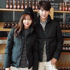 Tabla - Couple Matching Stand Collar Padded Jacket