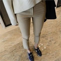 LIPHOP - Fleece-Lined Boot-Cut Pants
