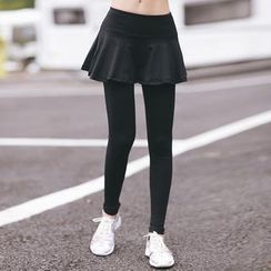 Sylphlike Loli - Frilled Inset Leggings