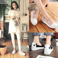 Shoes Galore - Two Tone Slip-Ons