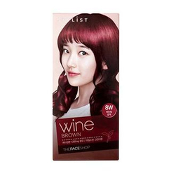 The Face Shop - Stylist Silky Hair Color Cream (#8W Wine Brown) 130ml