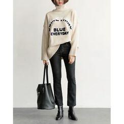 UPTOWNHOLIC - Fleece-Lined Boot-Cut Jeans