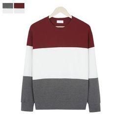 DANGOON - Color-Block Textured Sweatshirt