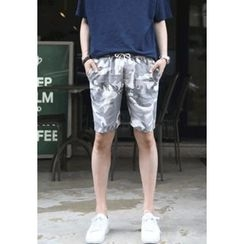 PLAYS - Band-Waist Camouflage Shorts