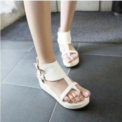 Tomma - 厚底翻邊夾趾涼鞋