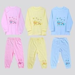 Emperial - Kids Pajama Set : Kids Print Top + Pants