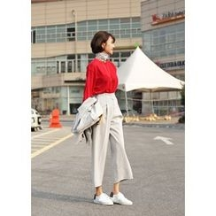 ssongbyssong - Flat-Front Cropped Pants