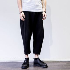 YIDESIMPLE - Drawstring Cropped Harem Pants