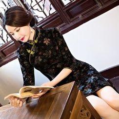 Montebelle - 七分袖碎花旗袍
