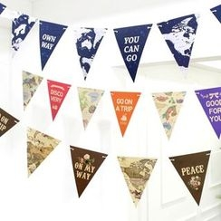 OH.LEELY - Map Decorative Bunting