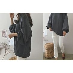 DAILY LOOK - Round-Neck Loose-Fit Pullover