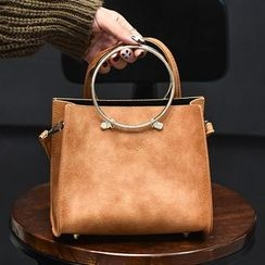 BAGuette - 兩件套: 圓形手帶手提袋 + 化妝包