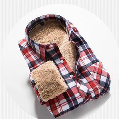 Alvicio - Plaid Fleece-Lined Shirt