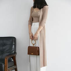 HORG - 套裝: 長款開衫 + 吊帶上衣