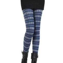 Ando Store - Fleece-Lined Patterned Leggings