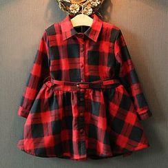 Rakkaus - Kids Long-Sleeve Plaid Shirtdress