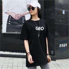 CHICFOX - Lettering Long T-Shirt