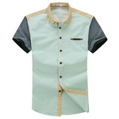 Lutai - Color-Block Casual Shirt