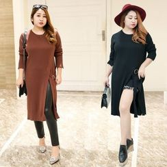 Inopine - Slit Long Sweater