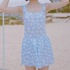 Zeta Swimwear - Heart Print Swim Dress