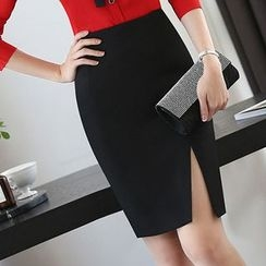 Princess Min - Pencil Skirt / Slim-Fit Pants