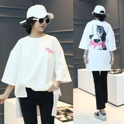 DANI LOVE - Printed Boxy-Fit T-Shirt