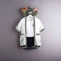 Kidora - 小童印字雪纺外套
