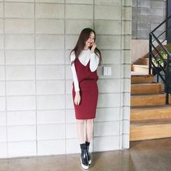 Envy Look - Set: Sleeveless Rib-Knit Top + Pencil Skirt