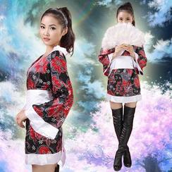 Lemon Bar - Printed Kimono Cosplay Costume