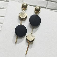 True Glam - Round Non-Matching Earrings