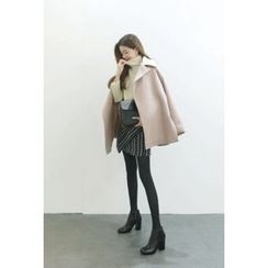 ATTYSTORY - Wide-Lapel Wool Blend Coat